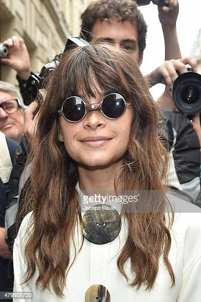 Miroslava Duma is seen arriving at Elie Saab Fashion Show during Paris Fashion Week Haute Couture Fall/Winter 15/16 Day Four on July 8 2015 in Paris...