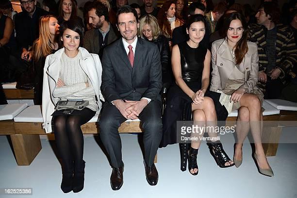 Miroslava Duma James Ferragamo Virginie Ledoyen and Carolina Gawronski attend the Salvatore Ferragamo Virginie Ledoyen and fashion show as part of...