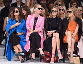 Miroslava Duma Lucie de la Falaise Olivia Palermo and Camille Rowe attend the Christian Dior show as part of the Paris Fashion Week Womenswear...