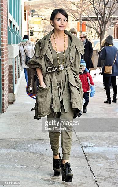 Miroslava Duma seen outside the Thakoon show on February 10 2013 in New York City