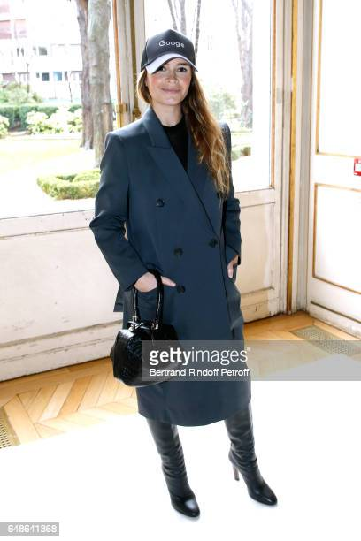 Miroslava Dumas attends the Giambattista Valli show as part of the Paris Fashion Week Womenswear Fall/Winter 2017/2018 on March 6 2017 in Paris France