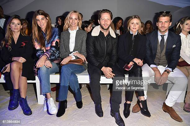 Miroslova Duma Bianca Brandolini Lauren Santo Domingo Derek Blasberg Olivia Palermo and Johannes Huebl attend the Moncler Gamme Rouge show as part of...