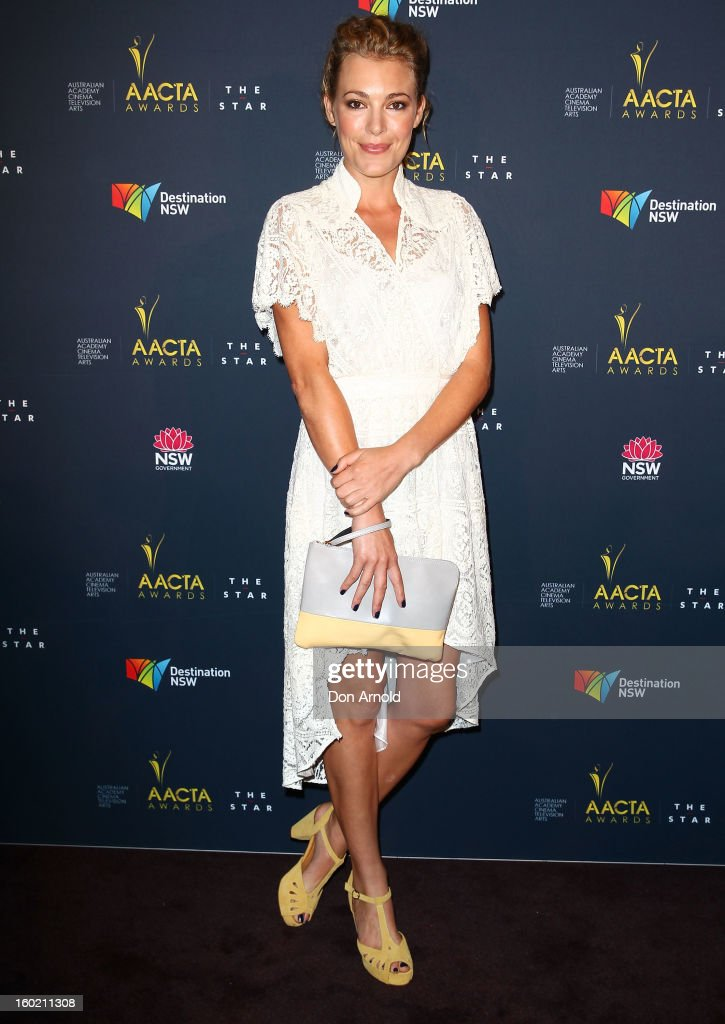 Mirrah Foulkes poses during the 2nd Annual AACTA Awards Luncheon at The Star on January 28, 2013 in Sydney, Australia.