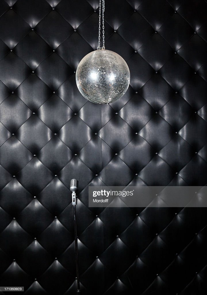 Mirror Ball and  microphone