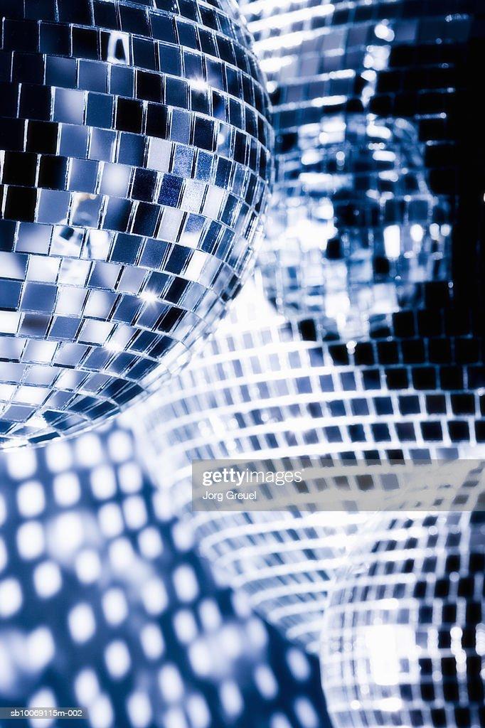 Mirror balls, close up