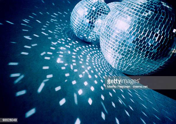 Mirror balls on the floor