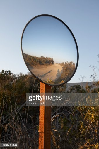 mirror in field