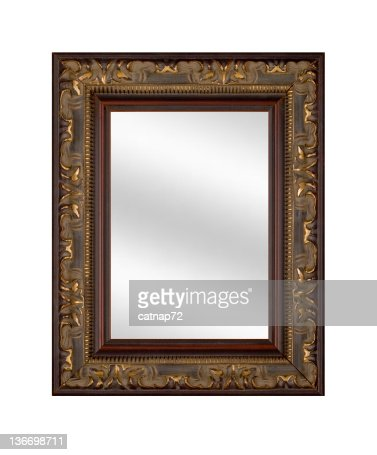Mirrored picture frame stock photos and pictures getty for Fancy white mirror