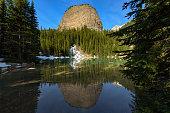 Mirror lake hiking from Lake Louise to Lake Agnes  Banff National Park, Alberta, Canada
