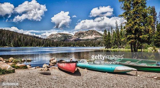 Mirror Lake in the Mountains of Utah : Stock Photo