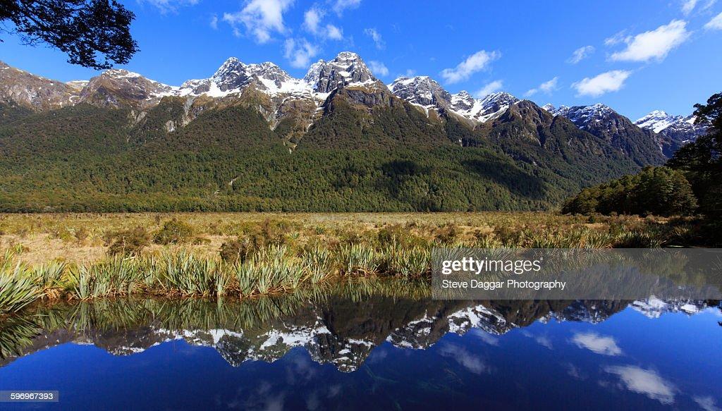Mirror Lake mountain reflections