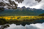 Mirror Lake is famous from clear and reflection water in the lake located in Fiordland National Park, New Zealand
