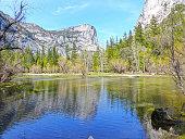 Amazing view of Mirror Lake Tenaya Creek, Yosemite