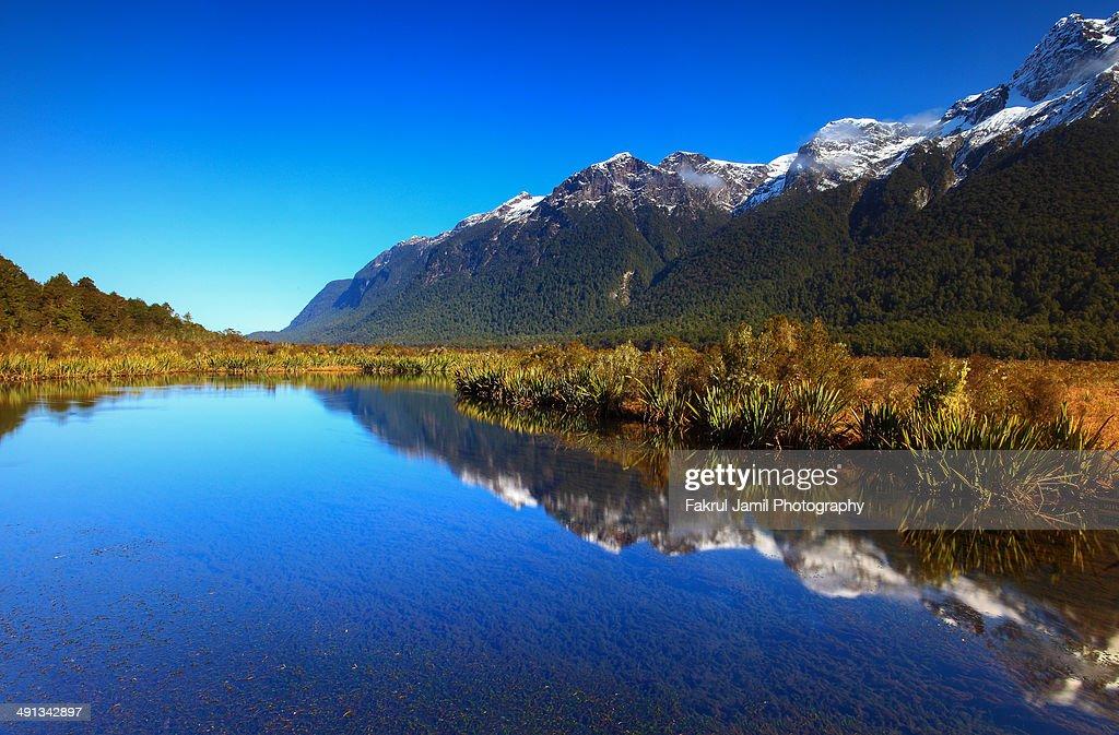 Mirror Lakes, New Zealand