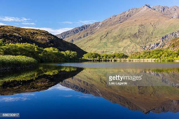 Mirror on Diamond Lake near Wanaka