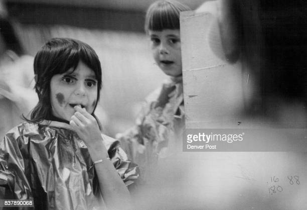 Mirror reflects images of Evette pinion Shellie herring at makeup table Credit The Denver Post