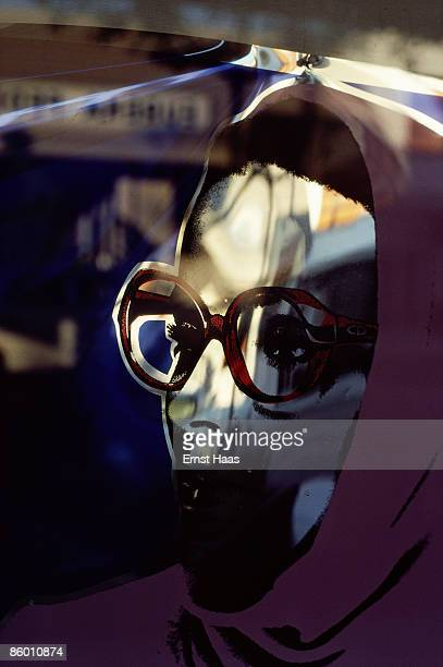 A mirrored face in a window November 1977