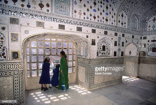 Mirrored room in Amber Fort Jaipur Rajasthan India