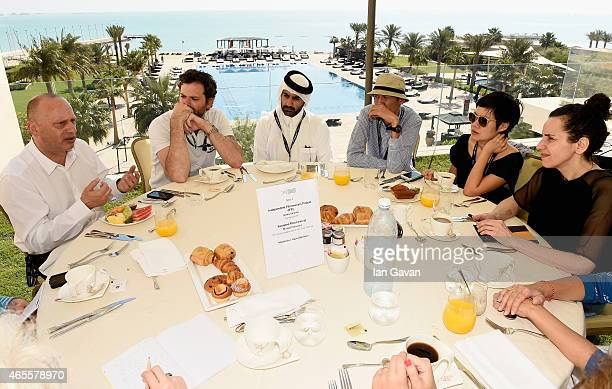 Mirsad Purivatra from the Sarajevo Film Festival and Joana Vicente from the Independent Filmmakers Project lead a working breakfast session with...
