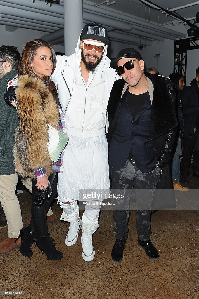Mirtha Michelle, Leo Velasquez and Sneaker Steve attend Hood by Air during Fall 2013 MADE Fashion Week on February 10, 2013 in New York City.
