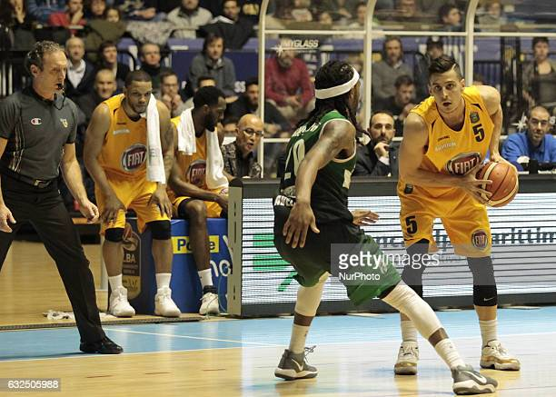 Mirza Alibegovic during Italy Lega Basket of Serie A match between Fiat Torino v Sidigas Avellino in Turin on january 22 2017