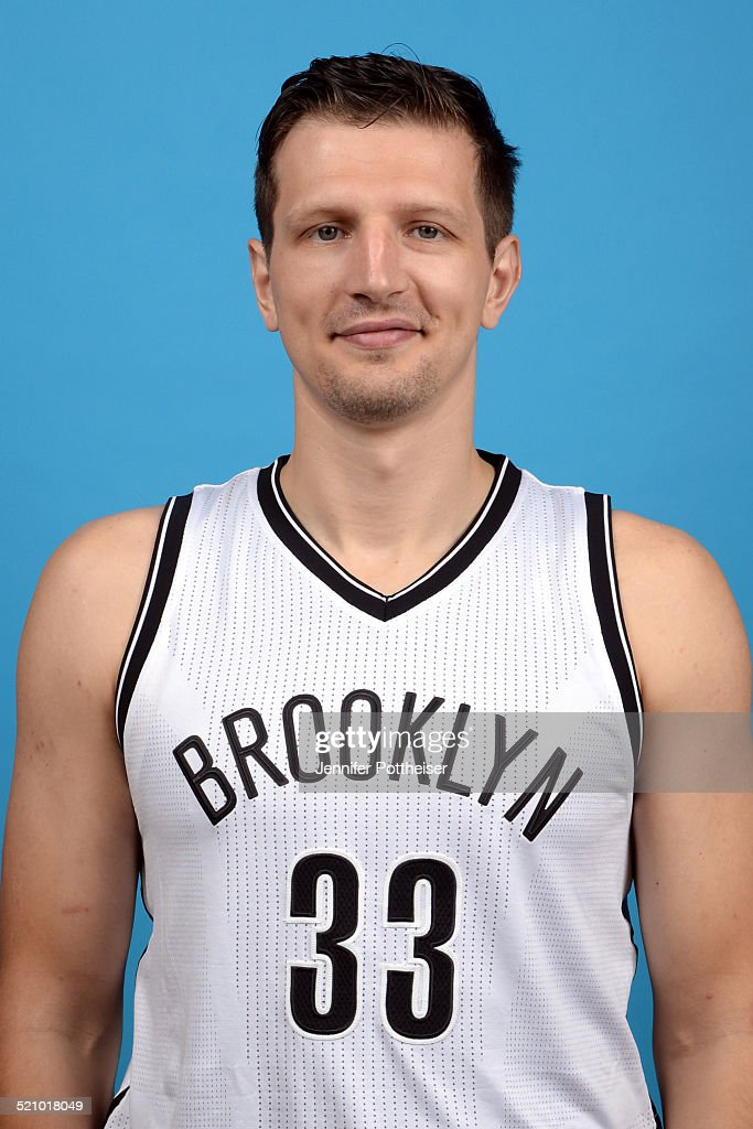 Mirza Teletovic of the Brooklyn Nets poses for a portrait during media day on September 26 2014 at the PNY Center in East Rutherford New Jersey NOTE...