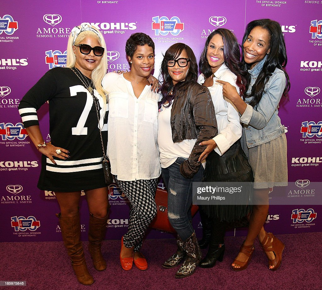 Misa Hylton, Monique Jackson, Simone I. Smith, Sheree Flecther and Kita Williams attend Amore by Simone I. Smith Collection Debut at Kohl's on October 26, 2013 in Los Angeles, California.