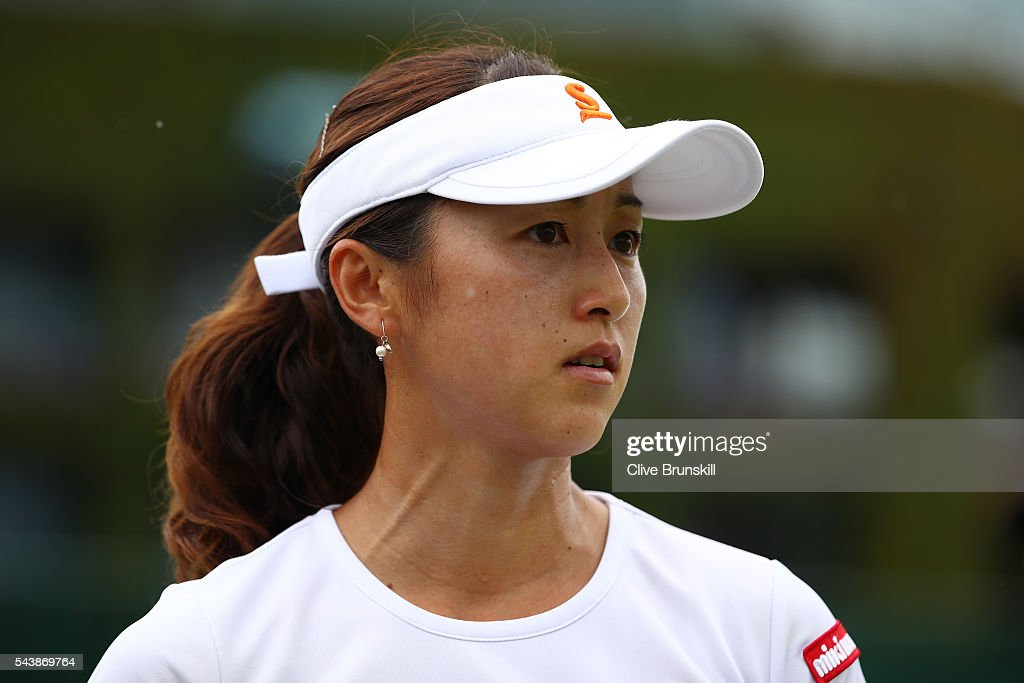 <a gi-track='captionPersonalityLinkClicked' href=/galleries/search?phrase=Misaki+Doi&family=editorial&specificpeople=4391508 ng-click='$event.stopPropagation()'>Misaki Doi</a> of Japan looks on during the Ladies Singles second round match against Kristyna Pliskova of Czech Republic on day four of the Wimbledon Lawn Tennis Championships at the All England Lawn Tennis and Croquet Club on June 30, 2016 in London, England.