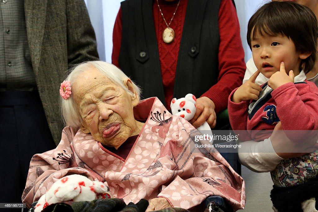 Okawa-shi Japan  city photos : Home on March 4, 2015 in Osaka, Japan. Japanese woman Misao Okawa ...