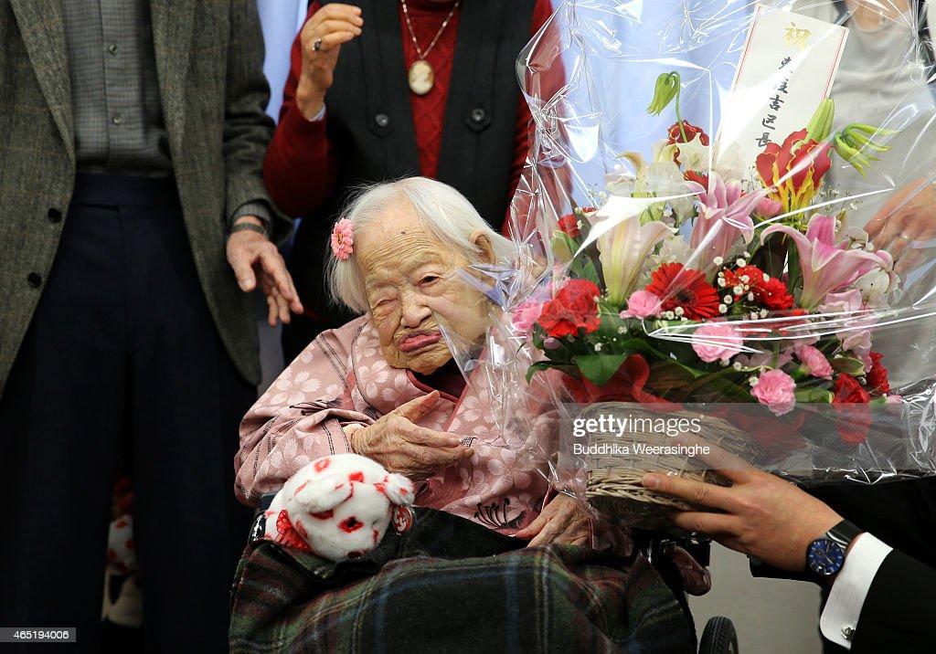 Okawa-shi Japan  City new picture : Home on March 4, 2015 in Osaka, Japan. Japanese woman Misao Okawa ...