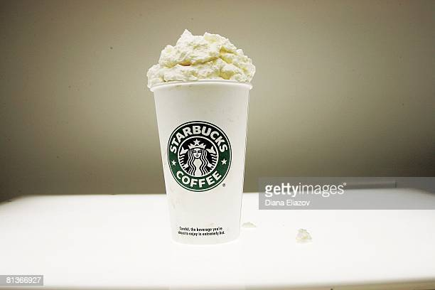 Miscellaneous Closeup of Starbucks coffee with whipped cream at Time Life Building New York NY 11/6/2006