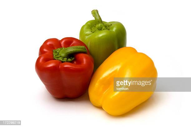 Miscellaneous colored peppers