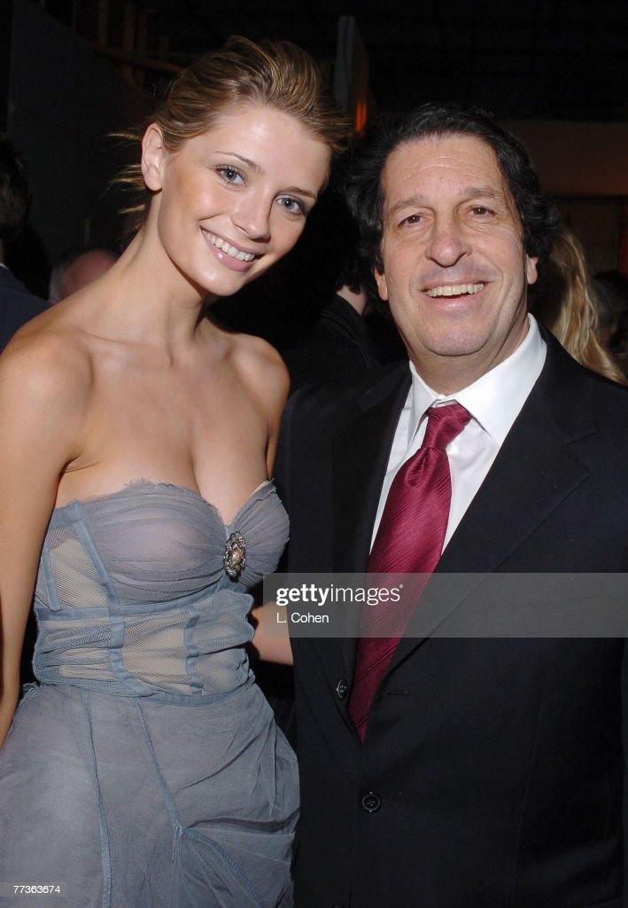 Mischa Barton and Peter Roth, president of Warner Bros. Television