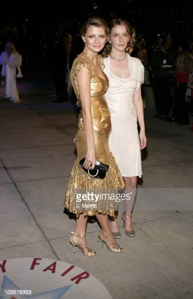 Mischa Barton and sister during 2005 Vanity Fair Oscar Party at Mortons in Los Angeles California United States