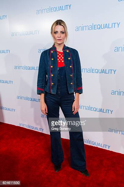 Mischa Barton arrives at the Animal Equality 10th Anniversary Celebration Honoring Moby at At The P on November 19 2016 in Los Angeles California