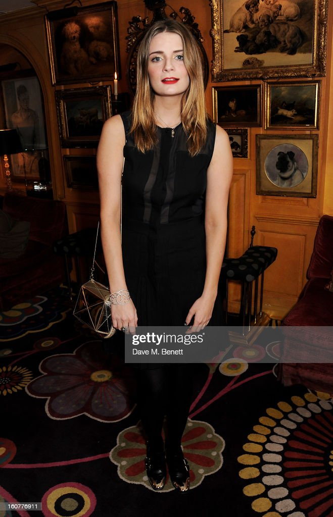 <a gi-track='captionPersonalityLinkClicked' href=/galleries/search?phrase=Mischa+Barton&family=editorial&specificpeople=201862 ng-click='$event.stopPropagation()'>Mischa Barton</a> attends a party celebrating the new partnership between Johnnie Walker Blue Label and model David Gandy at Annabels on February 5, 2013 in London, England.