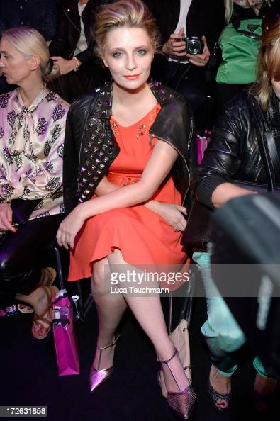 Mischa Barton attends the Marc Cain Show during the MercedesBenz Fashion Week Spring/Summer 2014 at Brandenburg Gate on July 4 2013 in Berlin Germany