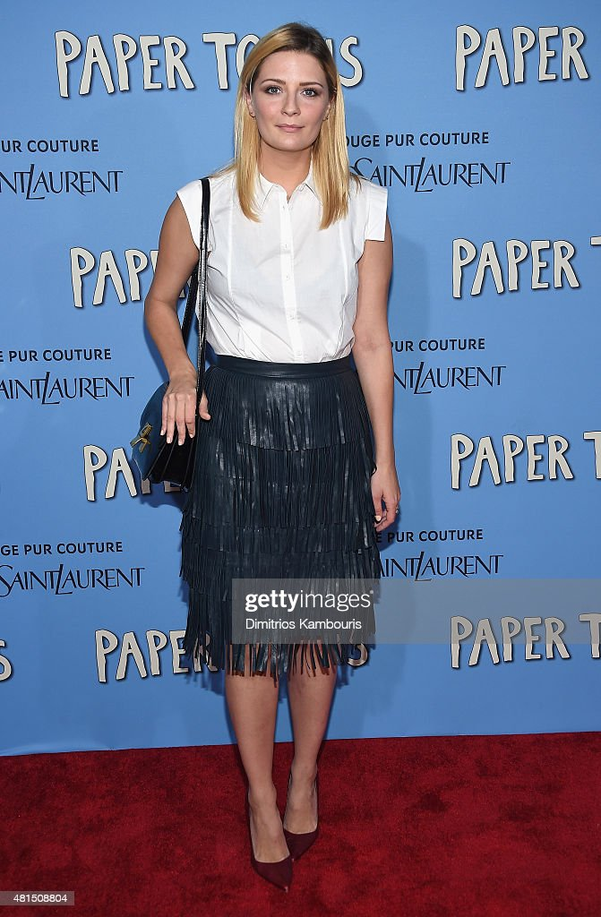 Mischa Barton attends the 'Paper Towns' New York Premiere at AMC Loews Lincoln Square on July 21, 2015 in New York City.