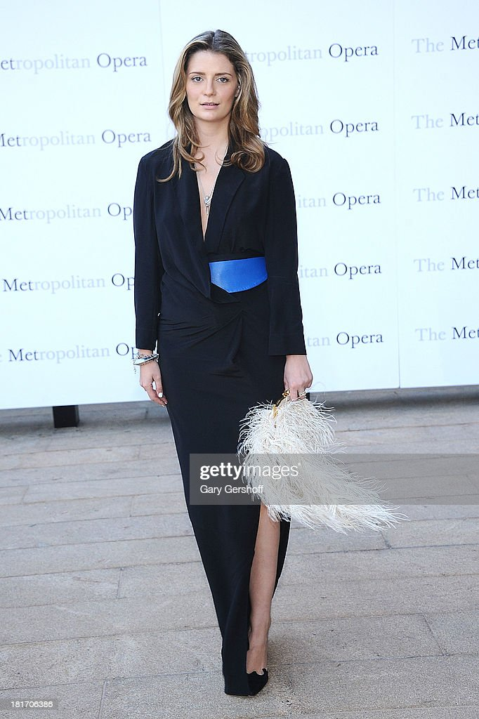 Mischa Barton attends the season opening performance of Tchaikovsky's 'Eugene Onegin' at The Metropolitan Opera House on September 23, 2013 in New York City.