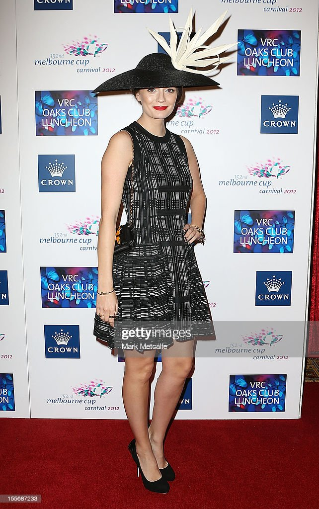 <a gi-track='captionPersonalityLinkClicked' href=/galleries/search?phrase=Mischa+Barton&family=editorial&specificpeople=201862 ng-click='$event.stopPropagation()'>Mischa Barton</a> attends the VRC Oaks Club Luncheon at Crown Palladium on November 7, 2012 in Melbourne, Australia.