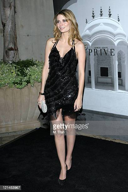 Mischa Barton during Giorgio Armani Celebrates 2007 Oscars with Exclusive Prive Show at Green Acres Estates in Beverly Hills California United States
