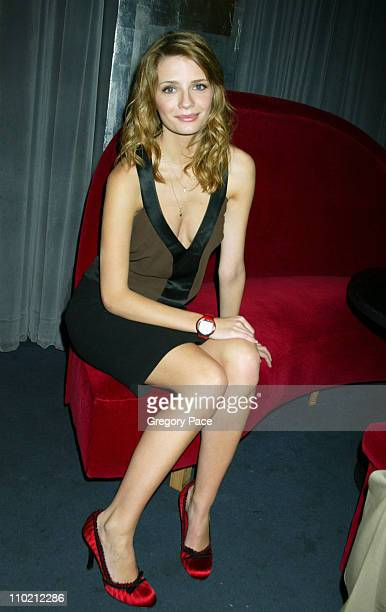 Mischa Barton during Swatch and Microsoft Launch New Swatch Watch Line 'Paparazzi' at The Supper Club in New York New York United States