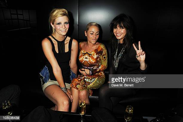 Mischa Barton Jaime Winstone and Daisy Lowe attend the Marc Jacobs fragrance preview at Harvey Nichols on July 22 2010 in London England