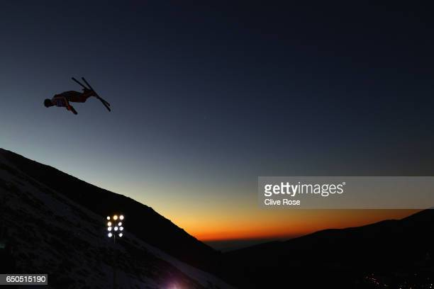 Mischa Gasser of Switzerland in action during Men's Aerials Training on day two of the FIS Freestyle Ski and Snowboard World Championships 2017 on...