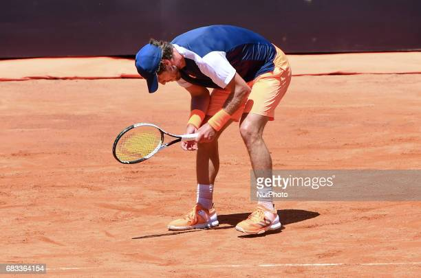 Mischa Zverev in action during his match against Tomas Berdych Internazionali BNL d'Italia 2017 on May 15 2017 in Rome Italy