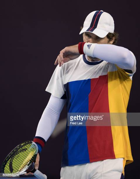Mischa Zverev of Germany during his loss against JanLennard Struff of Germany during the Men's singles first round match on day three of the 2017...