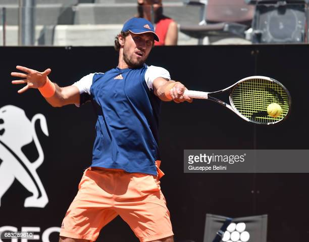 Mischa Zverev of Germany in action during the match between Tomas Berdych of Czech Republic and Mischa Zverev of Germany during The Internazionali...