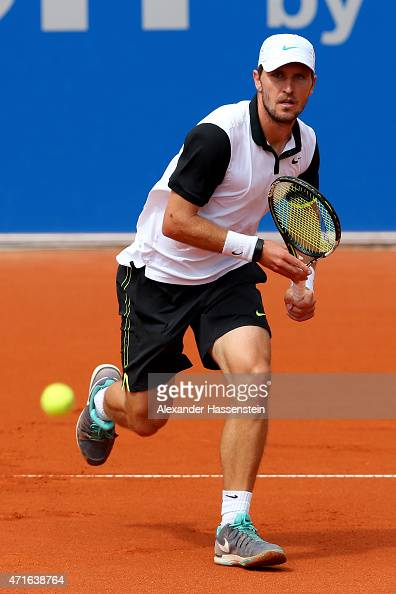 Mischa Zverev of Germany runs during the fiirst round match of the BMW Open at Iphitos tennis club on April 30 2015 in Munich Germany