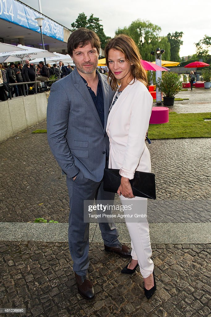 Misel Maticevic and <a gi-track='captionPersonalityLinkClicked' href=/galleries/search?phrase=Jessica+Schwarz&family=editorial&specificpeople=212905 ng-click='$event.stopPropagation()'>Jessica Schwarz</a> attend the producer party 2014 (Produzentenfest) of the Alliance German Producer - Cinema And Television on June 25, 2014 in Berlin, Germany.