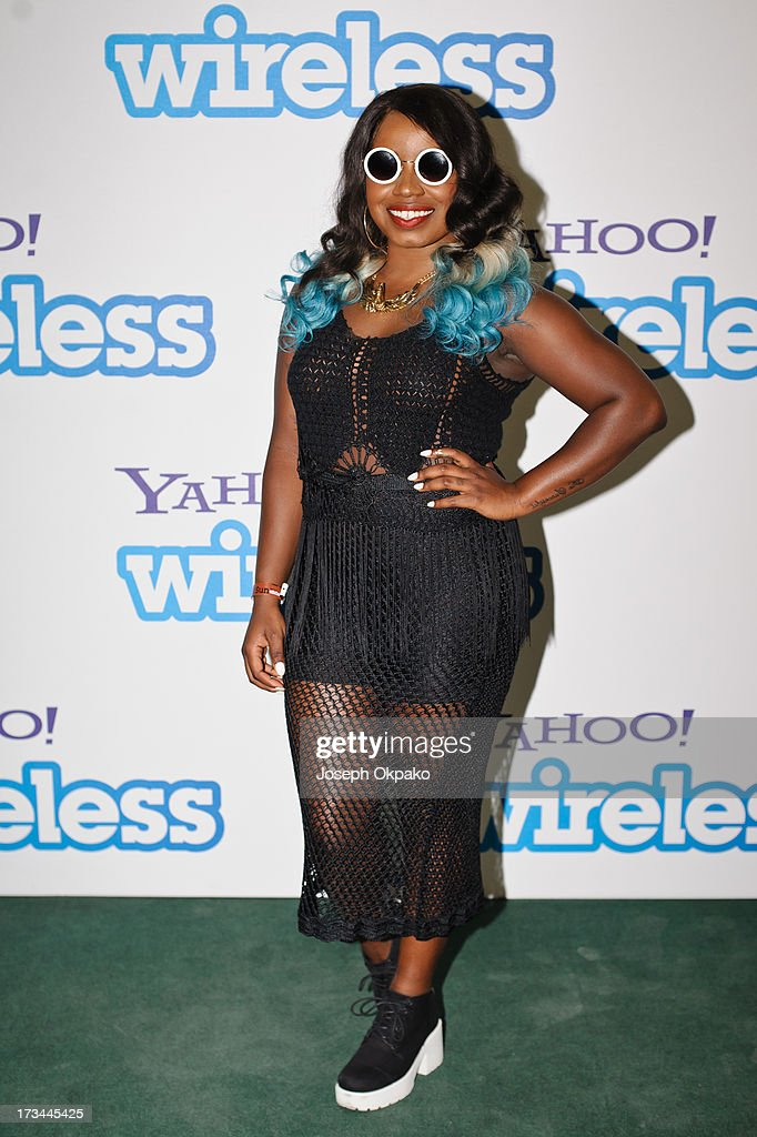 Misha B attends day 3 of the Yahoo Wireless Festival at Queen Elizabeth Olympic Park on July 14 2013 in London England